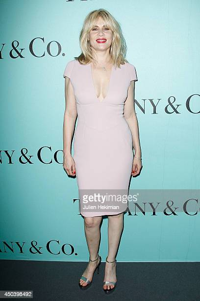 French actress Emmanuelle Seigner attends the Tiffany Co Flagship Opening on the Champs Elysee on June 10 2014 in Paris France
