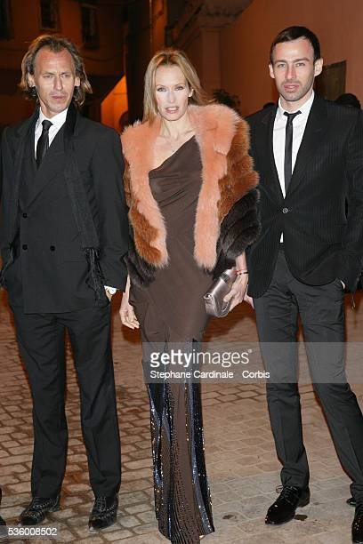 French actress Estelle Lefebure and Alexis Roche attend Dior party during the 6th Marrakech Film Festival