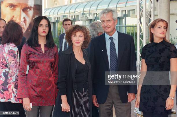French actress Eva Green arrives with her parents actress Marlene Jobert and Walter Green and her sister Joy at the opening evening of the 23th...