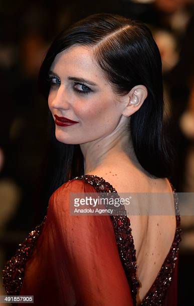 French actress Eva Green attends the film screening of 'The Salvation' during the 67th Cannes International Film Festival in Cannes France on May 17...