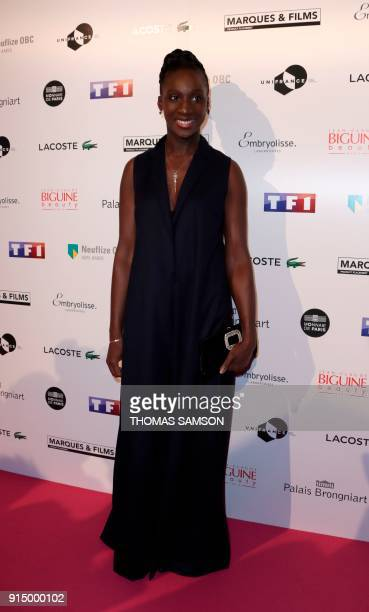 French actress Eye Haidara poses as she arrives to attend the 25emes Trophees du Film Français awards ceremony at The Palais Brongniart in Paris on...