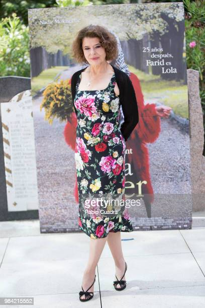 French actress Fanny Ardant attends Lola Pater photocall at French Institute on June 26 2018 in Madrid Spain