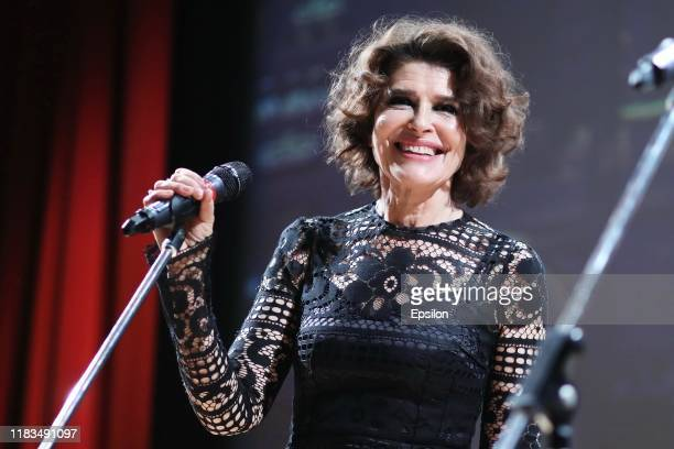 French actress Fanny Ardant attends the Moscow premiere of the film La Belle Epoque at the State Tretyakov Gallery on November 19 2019 in Moscow...