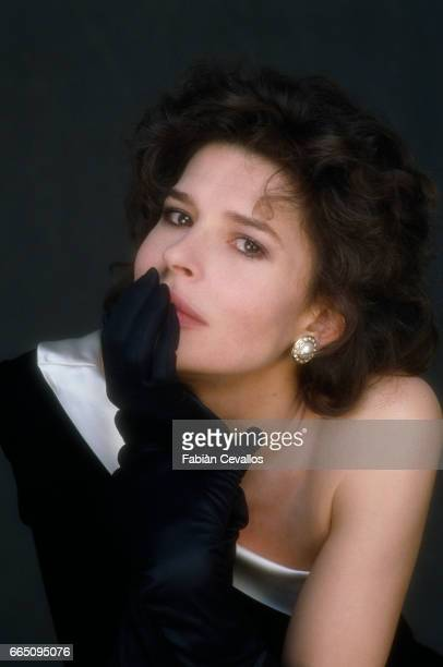 French actress Fanny Ardant on the set of the film Australia directed by Belgian director JeanJacques Andrien