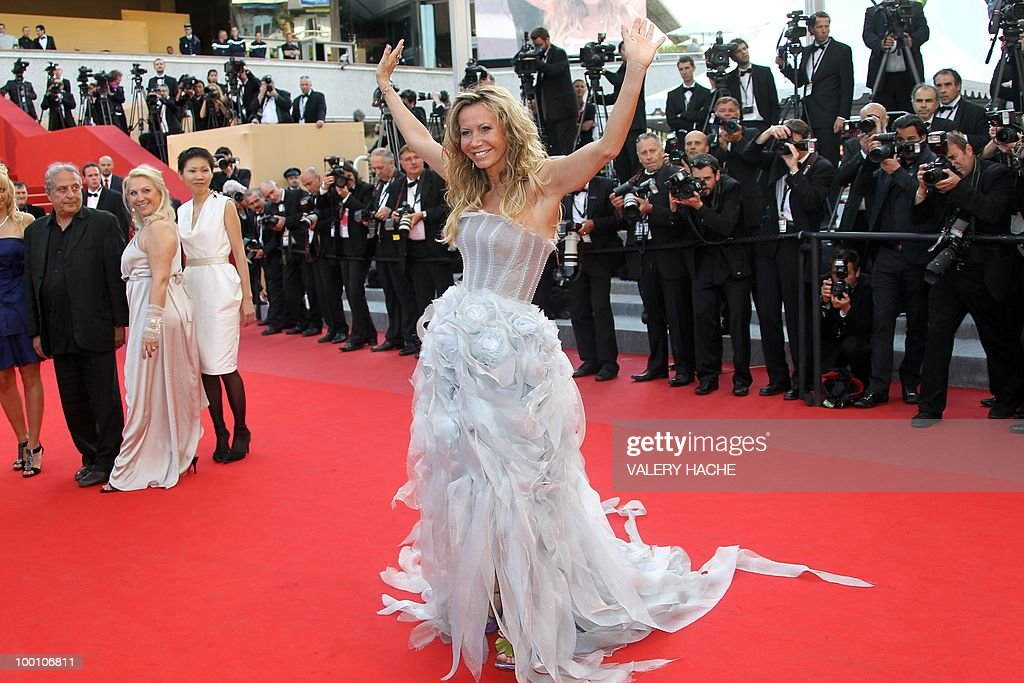 French actress Fiona Gelin arrives for the screening of 'Fair Game' presented in competition at the 63rd Cannes Film Festival on May 20, 2010 in Cannes.