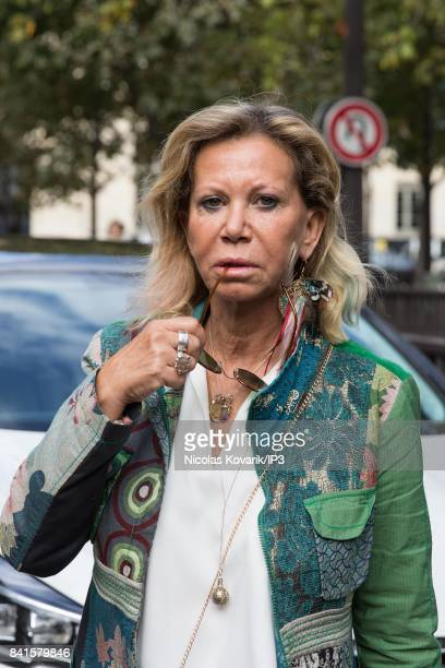 French actress Fiona Gelin attends Mireille Darc's Funeral at Eglise Saint Sulpice on September 1 2017 in Paris France French actress died aged of 79...
