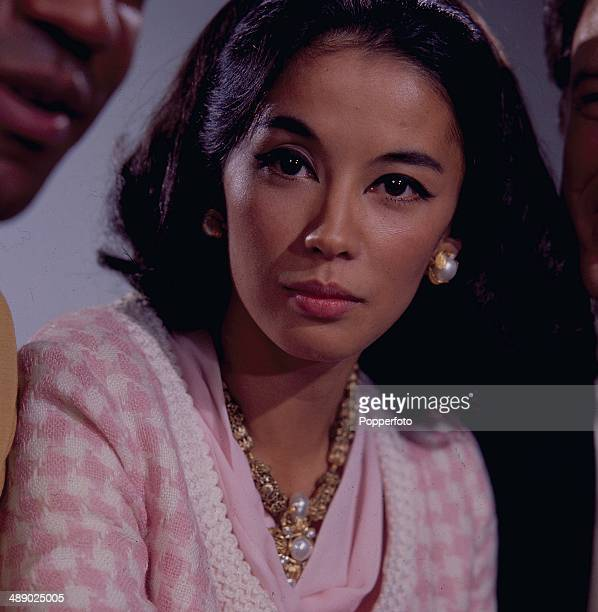 French actress France Nuyen posed on the set of the television series 'I Spy' in 1967