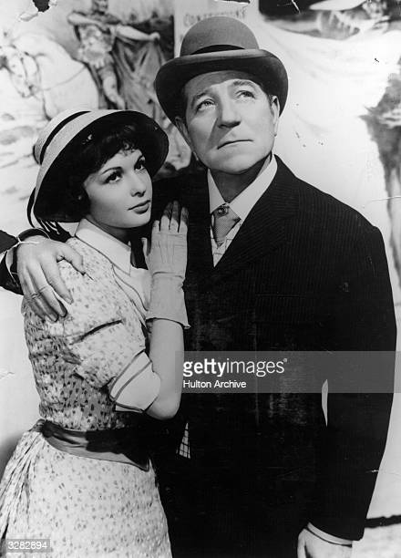 French actress Francoise Arnoul the stage name of Francoise Gautsch stars with Jean Gabin the stage name of Alexis Moncourge in Jean Renoir's film...