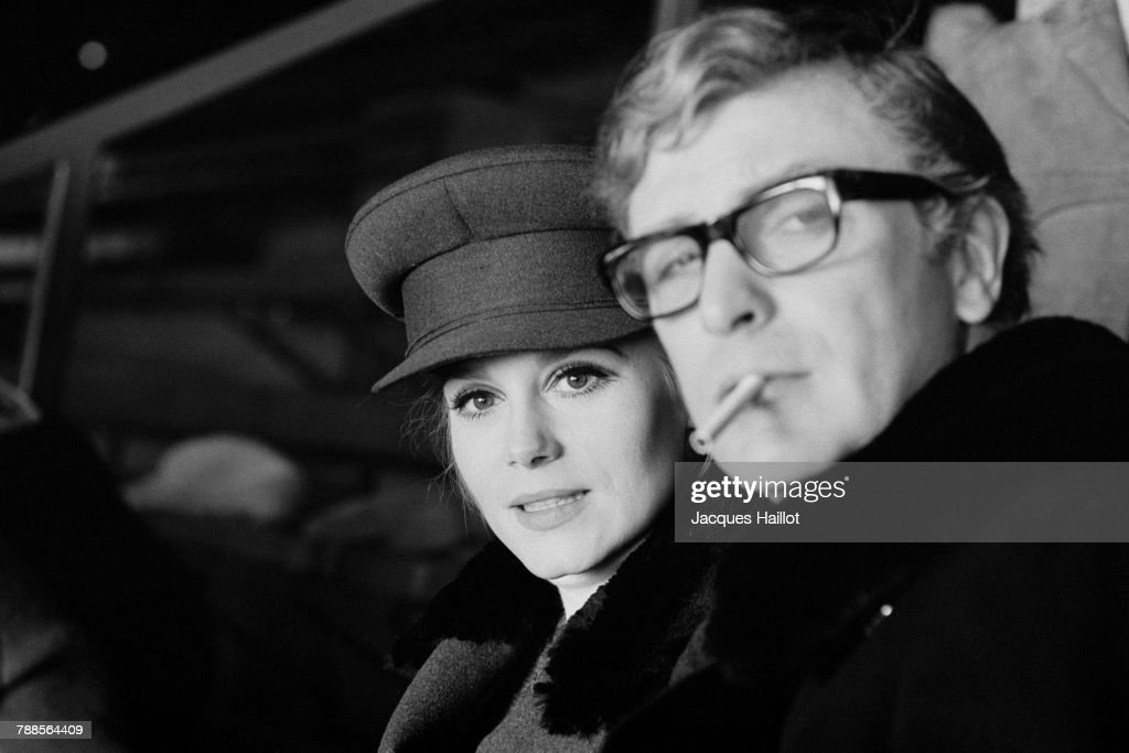 French actress FranÌÄå_oise DorlÌÄå©ac and British actor Michael Caine on the set of Billion Dollar Brain, based on the novel by Len Deighton and directed by Ken Russel.