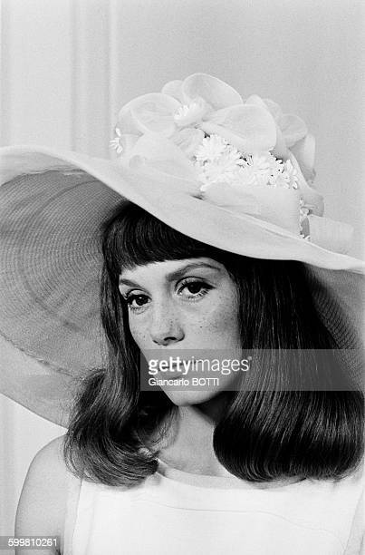 French actress Françoise Dorléac on the set of the musical film 'The Young Girls of Rochefort' directed by Jacques Demy in Rochefort France on June 9...