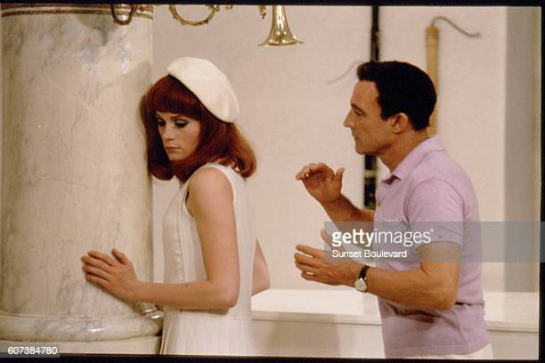 French actress Françoise Dorleac and GreekAmerican actor singer and dancer George Chakiris on the set of Les demoiselles de Rochefort written and...