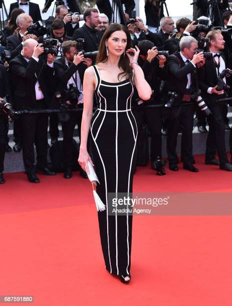 French actress Frederique Bel arrives for the 70th Anniversary Ceremony of Cannes Film Festival in Cannes France on May 23 2017