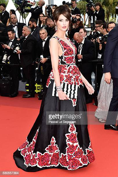 French actress Frederique Bel attends the 'Cafe Society' premiere and the Opening Night Gala during the 69th annual Cannes Film Festival at the...