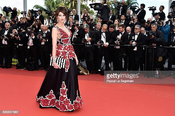 French actress Frederique Bel attends the Cafe Society premiere and the Opening Night Gala during the 69th annual Cannes Film Festival at the Palais...