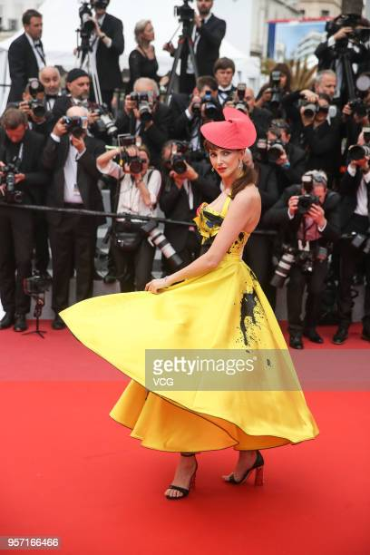 French actress Frederique Bel attends the screening of 'Sorry Angel ' during the 71st annual Cannes Film Festival at Palais des Festivals on May 10...