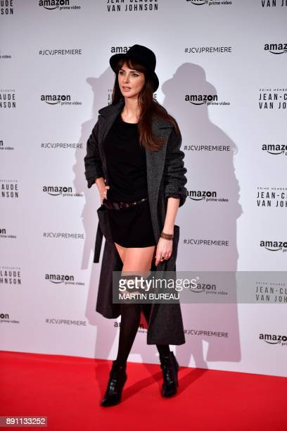 French actress Frederique Bel poses during a photocall for the world launch of the Amazon Prime series 'JeanClaude Van Johnson' on December 12 at the...