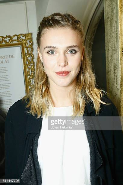 French actress Gaia Weiss attends Les Reines 20 Cocktail Party hosted by Deborah Sinigaglia from MDK at Il Gelato del Marchese on March 8 2016 in...