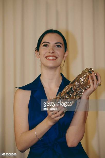 French actress Geraldine Pailhas receives the Most Promising Actress Award for the movie La Neige et le feu written and directed by Claude Pinoteau...