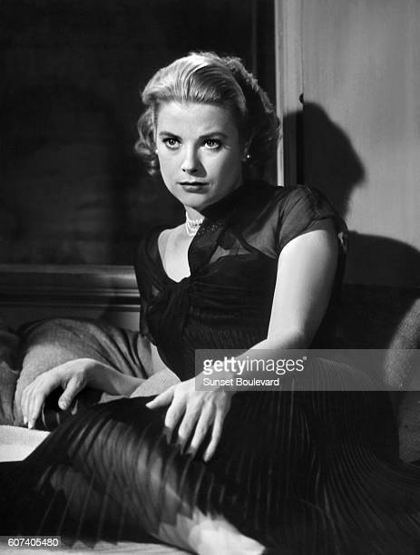 French actress Grace Kelly on the set of Rear Window based on the short story It Had to Be Murder by Cornell Woolrich and directed and produced by...
