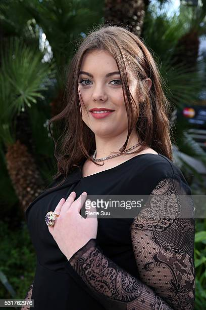 French actress Heloise Martin poses at the Majestic Hotel during the 69th Annual Cannes Film Festival on May 16, 2016 in Cannes, .