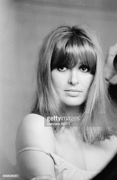 French Actress Irene Tunc At Home in Paris, France, in January 1967 .