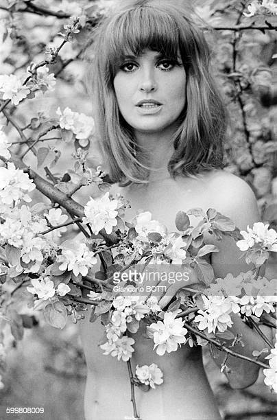 French Actress Irene Tunc In The Countryside In France, In May 1967 .