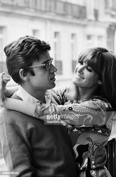 French Actress Irene Tunc With Boyfriend Alain Cavalier in Paris France in January 1967