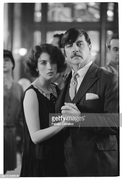French actress Isabelle Adjani and British actor Alan Bates on the set of Quartet directed by American James Ivory Isabelle Adjani won the best...