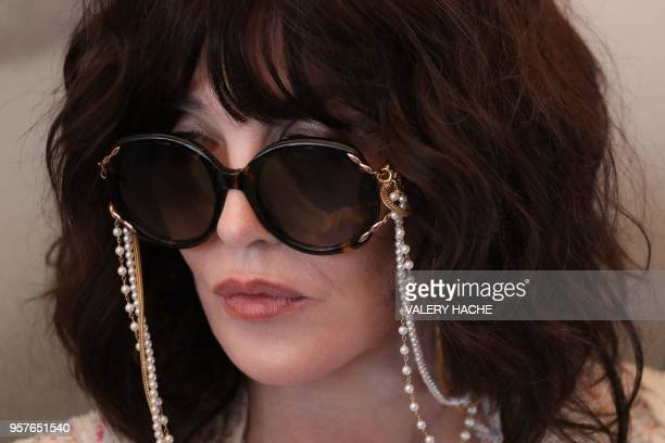 French actress Isabelle Adjani attends on May 12 2018 a photocall for the film Le Monde est a Toi on the sidelines of the 71st edition of the Cannes...