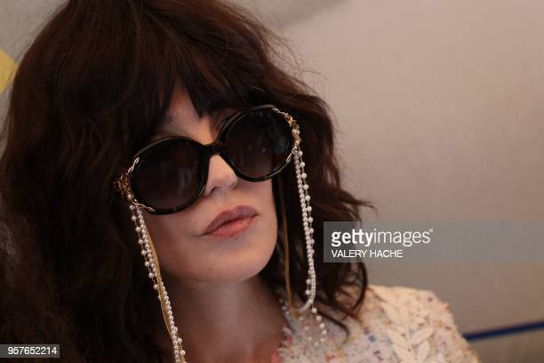 French actress Isabelle Adjani attends on May 12 2018 a photocall for the film 'Le Monde est a Toi ' on the sidelines of the 71st edition of the...