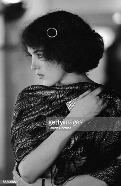 French actress Isabelle Adjani on the set of Quartet directed by American James Ivory She won the best female performance award at Cannes film...