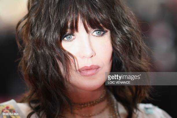 TOPSHOT French actress Isabelle Adjani poses as she arrives on May 8 2018 for the screening of the film Todos Lo Saben and the opening ceremony of...