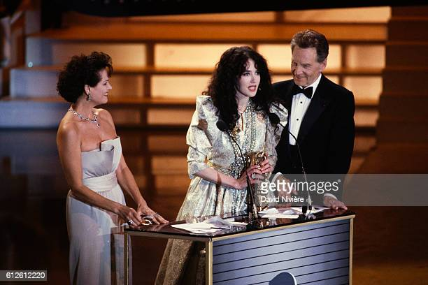 French actress Isabelle Adjani wins Best Actress at the Cesar Film Awards for her role in the Bruno Nuytten film Camille Claudel