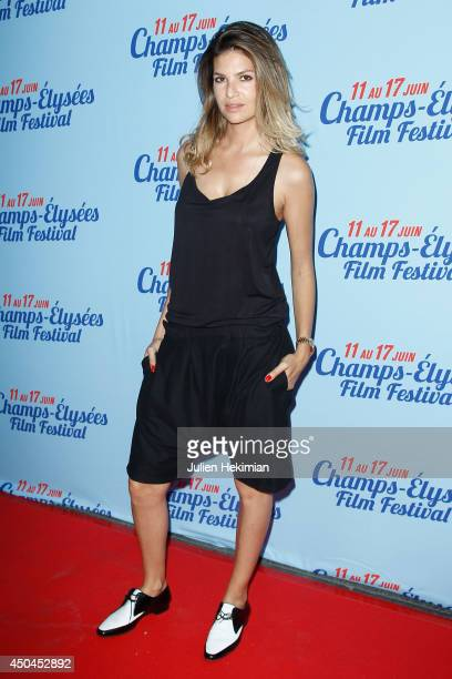 French actress Isabelle Funaro attends the Fastlife Paris Premiere on June 11 2014 in Paris France