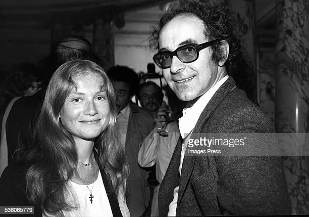 French actress Isabelle Huppert and filmmaker JeanLuc Godard New York City circa 1980
