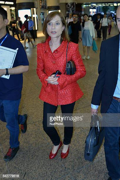French actress Isabelle Huppert attended the French Film Festival 2016 in Tokyo Japan June 24 2016