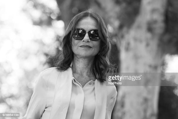 French actress Isabelle Huppert attends the Prix Diálogo 2018 awards in Madrid Spain June 19 2018
