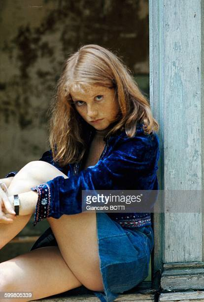 French Actress Isabelle Huppert In France Circa 1970