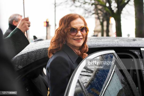 French Actress Isabelle Huppert on February 27 2020 in Paris France