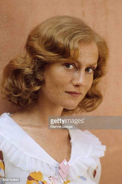 French actress Isabelle Huppert on the movie set of 'Coup de torchon' directed by Bertrand Tavernier