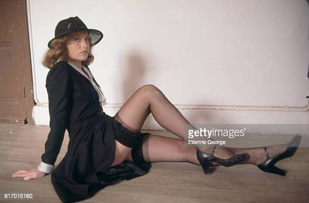 French actress Isabelle Huppert on the set of 'Coup De Torchon' directed by Bertrand Tavernier 1981 'n'n