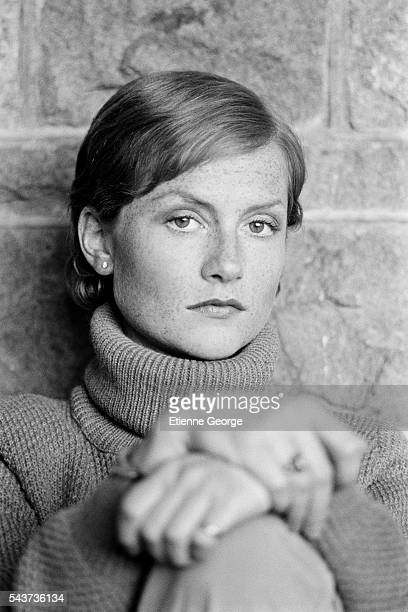 French actress Isabelle Huppert on the set of Eaux Profondes based on the novel by Patricia Highsmith and directed by Michel Deville
