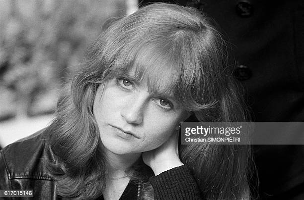 French actress Isabelle Huppert on the set of 'Loulou' directed by Maurice Pialat France 1980