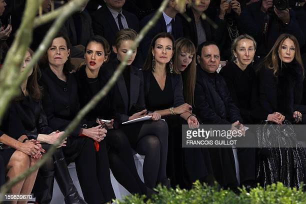 French actress Isabelle Huppert US actresses Sigourney Weaver Jessica Alba and Leelee Sobieski French actress Carole Bouquet French jewellery...