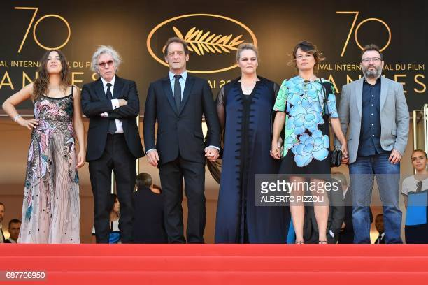 TOPSHOT French actress Izia Higelin French director Jacques Doillon French actor Vincent Lindon Belgian actress Severine Caneele French producer...