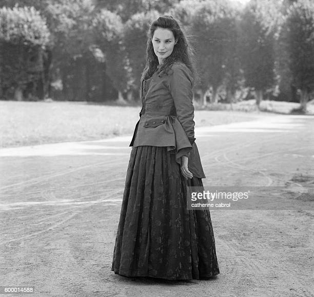 French actress Jeanne Balibar on the set of the film 'Sade' directed by Benoit Jacquot