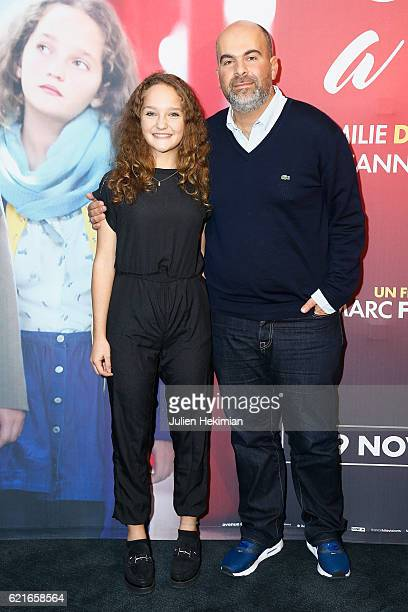 French actress Jeanne Jestin and Director Marc Fitoussi attend 'Maman A Tort' Paris Premiere at UGC Cine Cite des Halles on November 7, 2016 in...