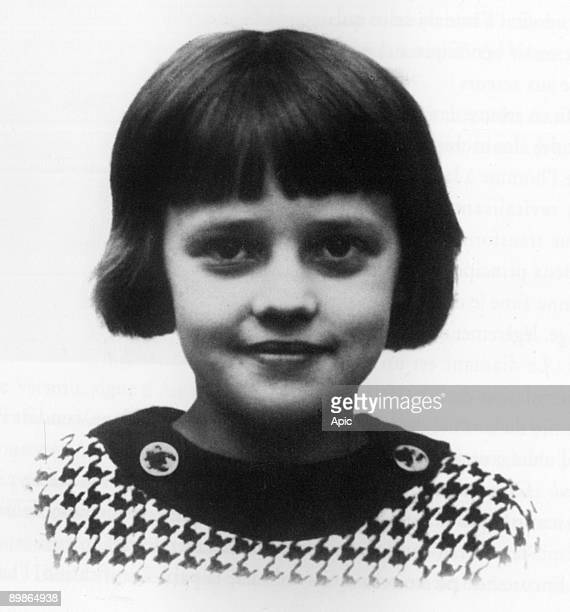 French actress Jeanne Moreau as a child in 1932