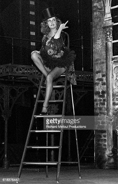 "French actress Jeanne Moreau stars in ""Lulu"" at the Theatre de l'Athenee. The play, written by Frank Wedekind, also starred actor Roland Bertin."
