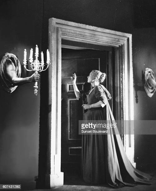 French actress Josette Day on the set of La Belle et la Bête written and directed by Jean Cocteau